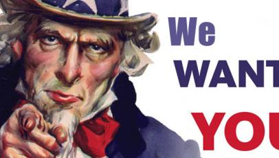 "Afbeelding van ""Uncle Sam"" met de tekst ""We Want You"""